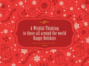 Green Bag: Holiday Postcards 2013